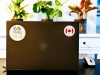 Flag Sticker - Canada on a laptop
