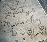 Handprints & Footprints at Chinese Theatre