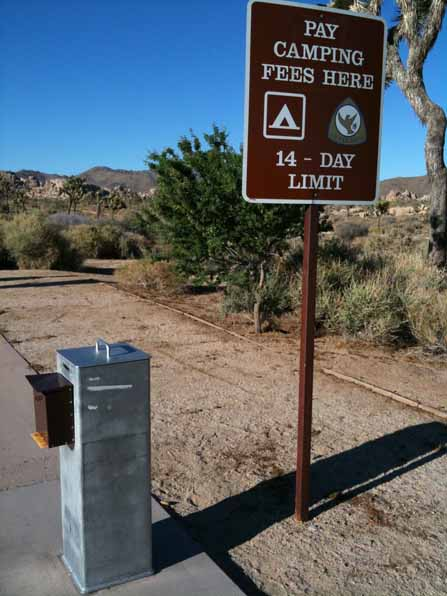 Hidden Valley Campground. Put money in the yellow envelope and place it in the grey secured box
