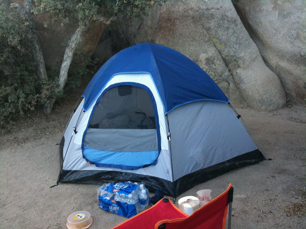 Tent at Joshua Tree National Park - Hidden Valley