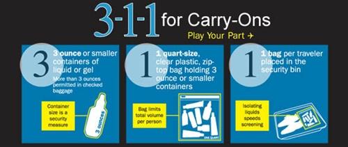 TSA 3-1-1 Rule