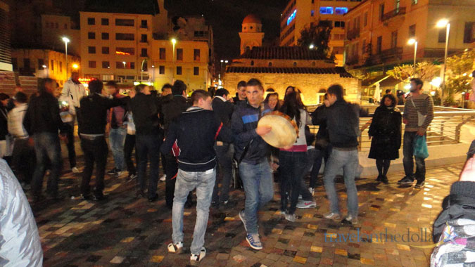 Saturday Night Party at Monastiraki Square