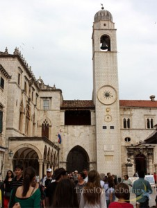 Display of time in Bell Tower, Dubrovnik