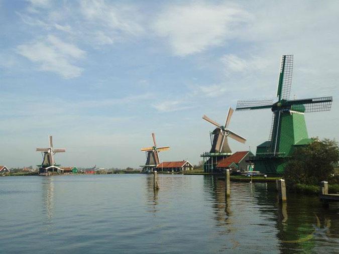 Windmills of Zaandam, Netherlands