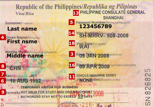 Visa For Travel To The Phillipines