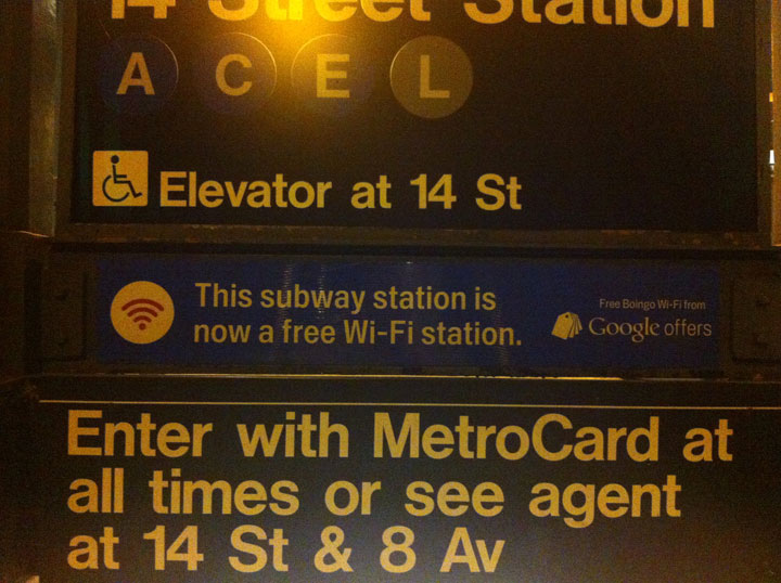 Wifi on New York Subway