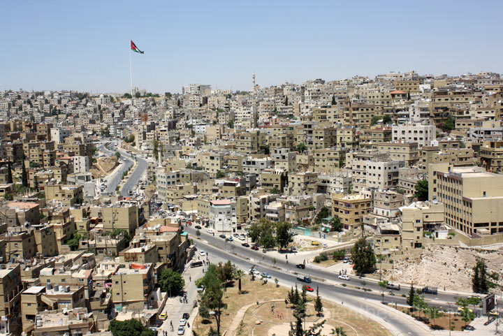 Panoramic view of Amman city from Citadel