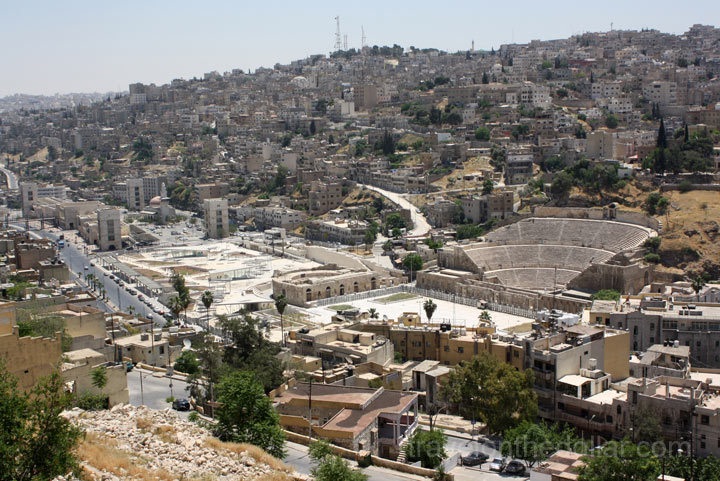 View of Amman city & Roman Theater from Citadel