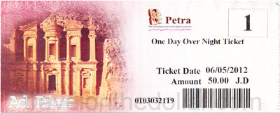 Petra Ticket