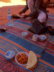 Lunch at Wadi Rum