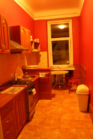 Kitchen of Blue Danube Hostel