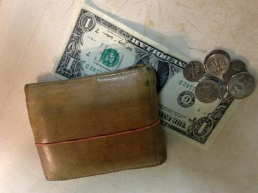 Wallet with rubber-band