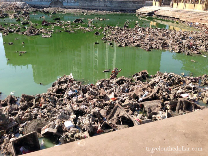 Lord Ganesh idols in sewer