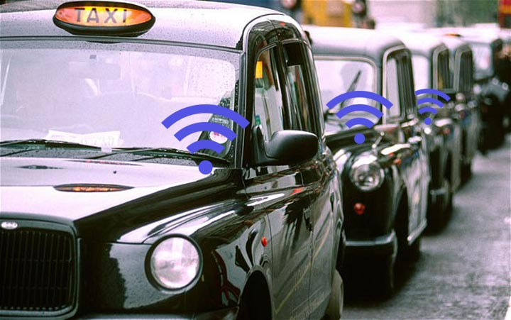 Wi-Fi on London Black Taxis