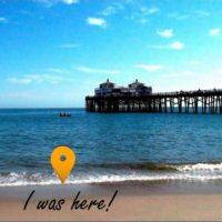 Postcard of Venice Beach Pier, Los Angeles, USA