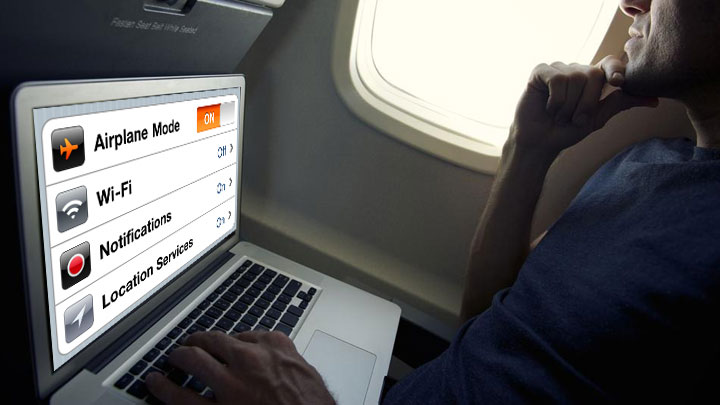 Computer on Airplane