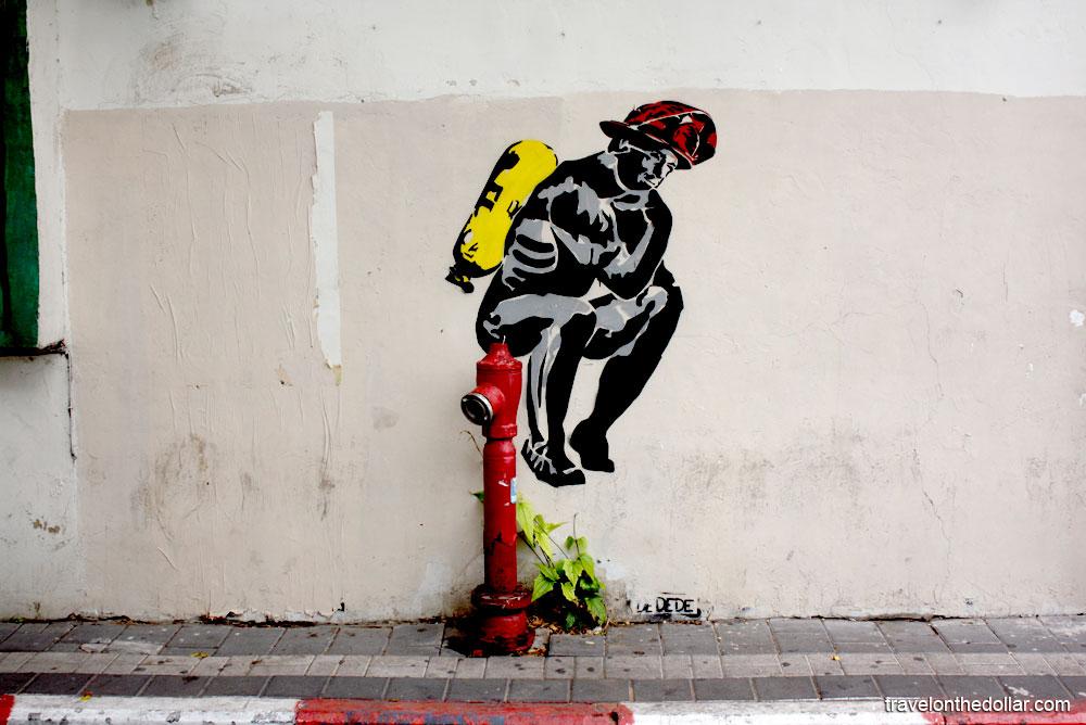 Street graffiti in Tel Aviv, Israel
