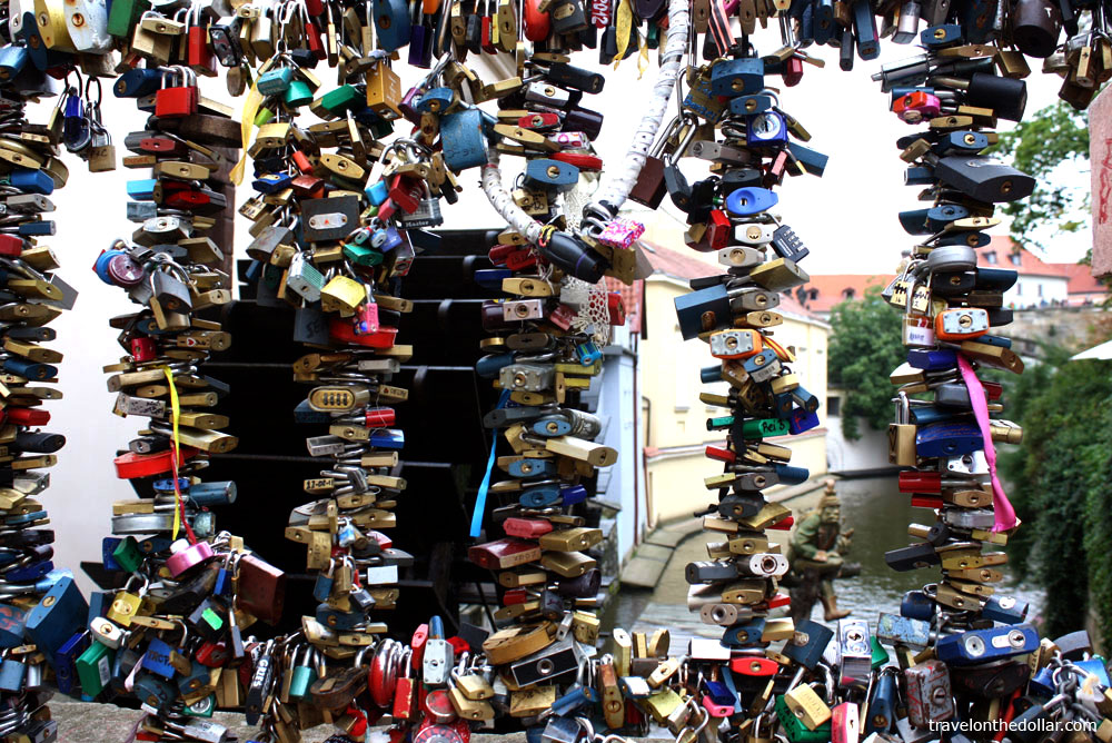 Love-locks & Water Wheel, Prague