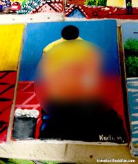 Bizarre painting in Masaya, Nicaragua