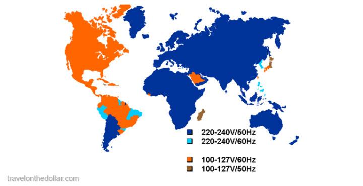 voltages in world