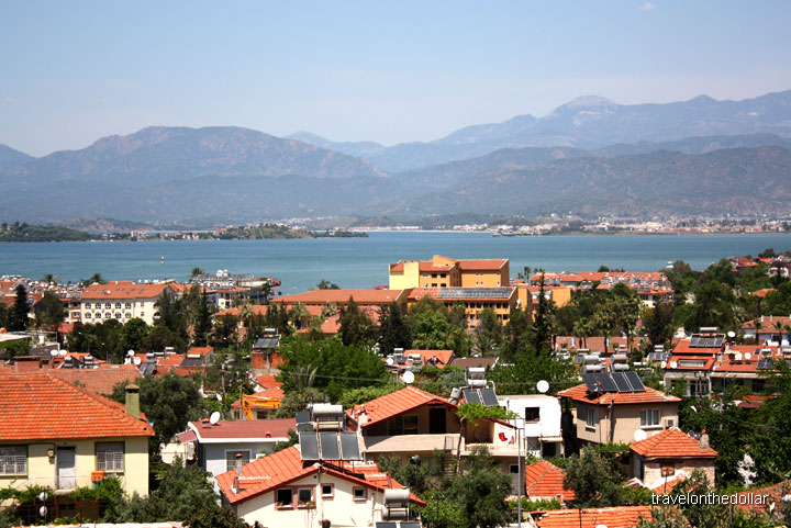 View of Fethiye from King's Garden restaurant