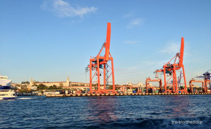 Port of Istanbul from ferry to Asian side