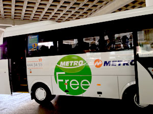 Metro free shuttle from Izmir center to bus station