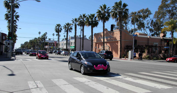 Lyft car in Los Angeles