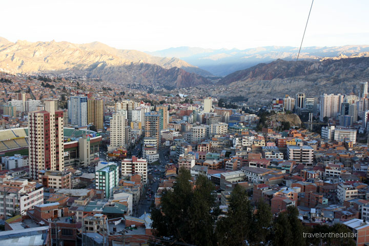 View of La Paz from Mirador Killi Killi