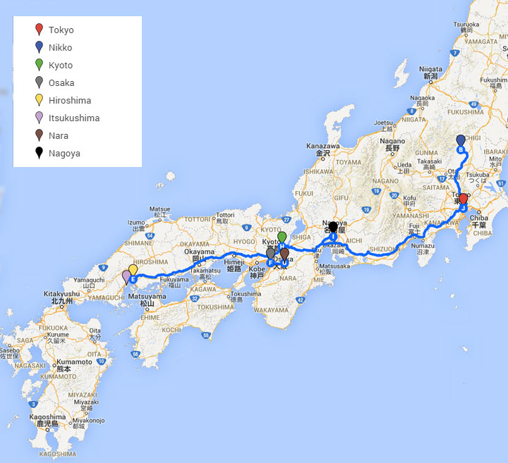 Japan - Ten Days Itinerary