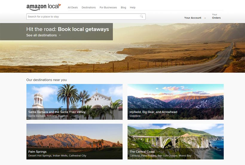 Amazon Destinations is a new brand featuring drivable, local destinations