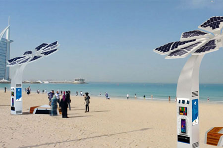 Dubai offers free wi-fi and charging station to beachgoers