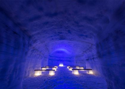 World's largest glacier man-made cave is open for business