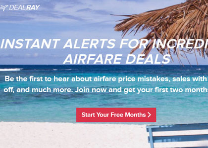 DealRay will send super cheap, mistakes fares to your phone