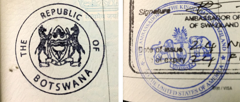 Meeting the stamp-collector immigration officer