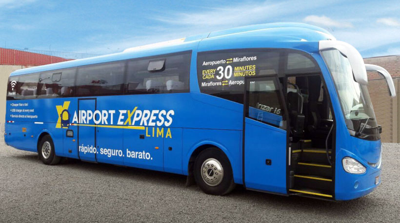 New bus service from Lima airport (LIM) to Miraflores in city