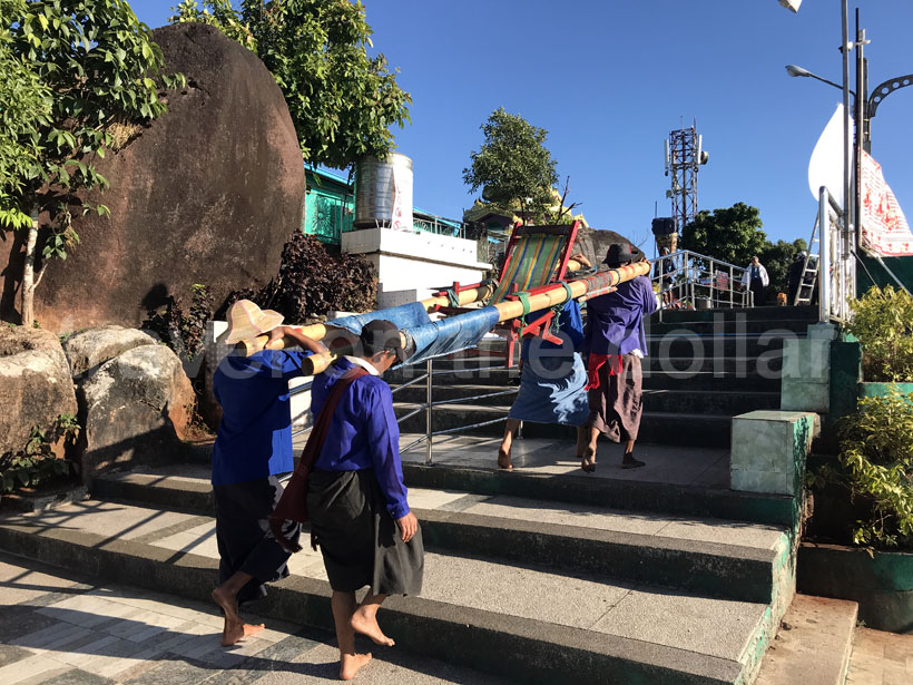 Palanquin to take tourists up to Golden Pagoda