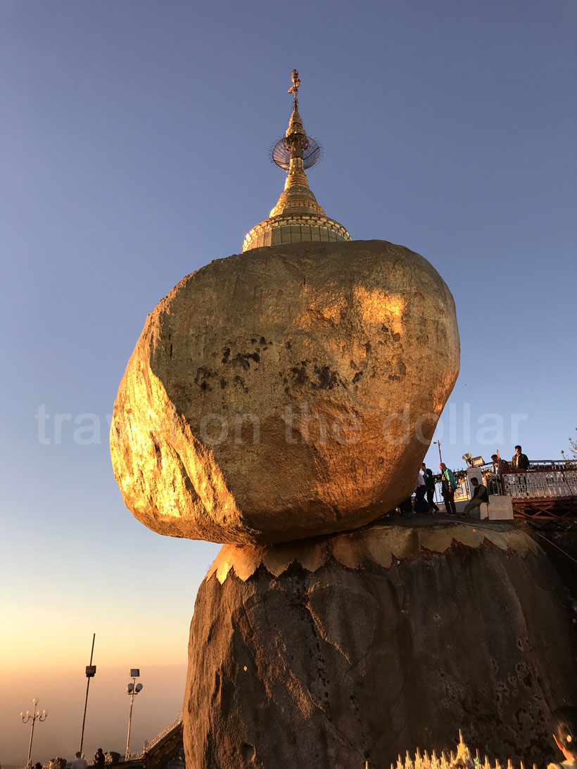 Golden Pagoda at sunset