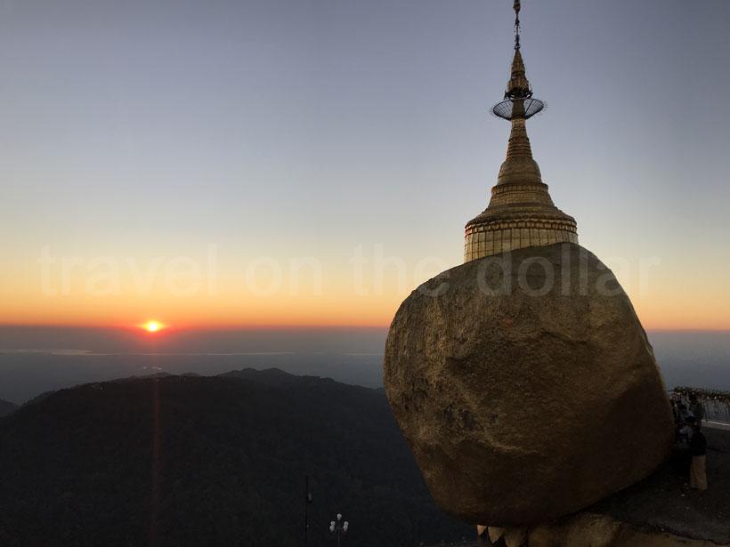 Golden Pagoda at sunset