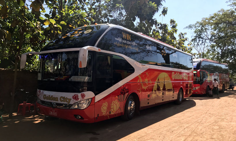 Bus from Kinpun to Yangon