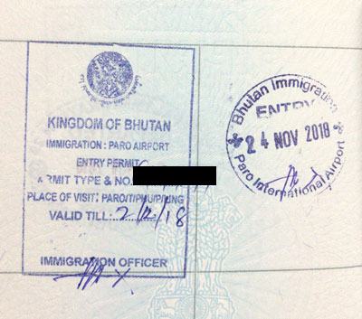 Bhutan visa for Indians