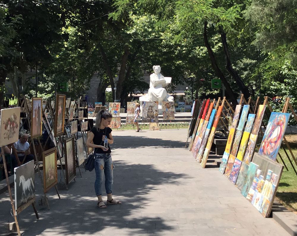 Artists alley Yerevan
