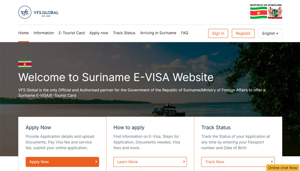 Suriname e-visa