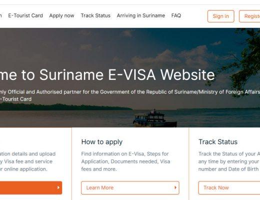 Suriname offers e-visa & e-tourist card