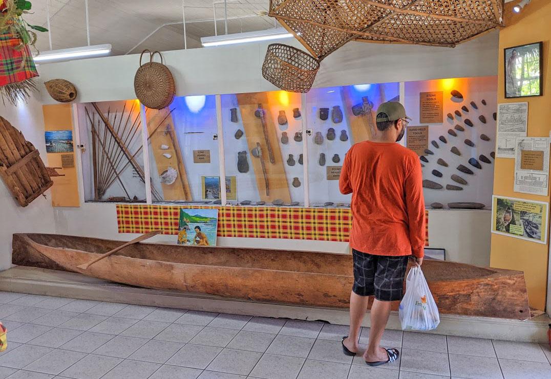 Inside Dominica Museum in Roseau