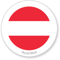 Flag Sticker - Austria