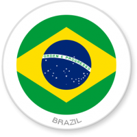 Flag Sticker - Brazil