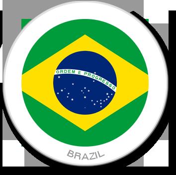 Flag Sticker - Brazil