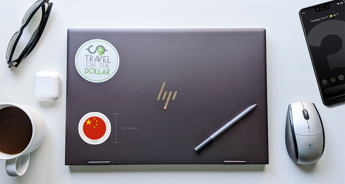 Flag Sticker - China on a laptop