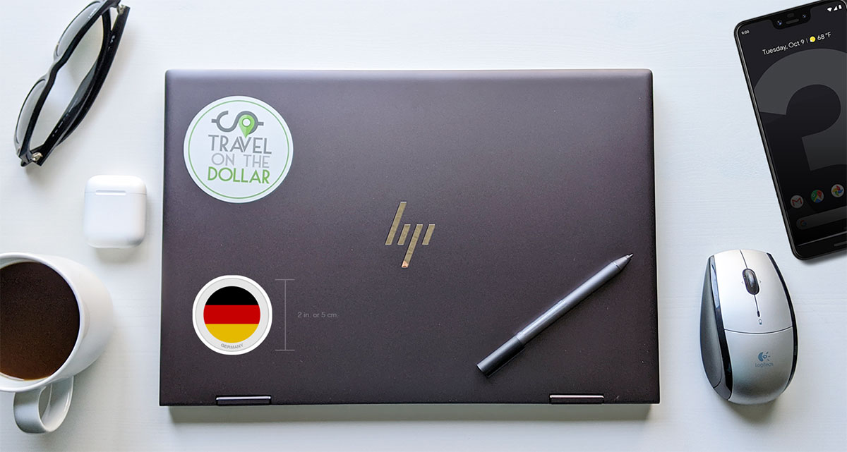 Flag Sticker - Germany on a laptop